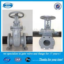 Cheap price double disc ductile cast iron gate valve for reducing hydraulic pressure