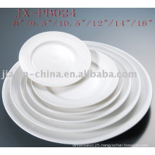 white porcelain round dinner plate