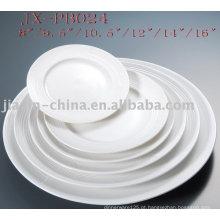 porcelana branca prato redondo