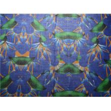 Tecido de algodão impresso de alta qualidade personalizado do Ramie (DSC-4170)