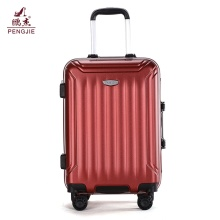 red colour ABS trolley luggage suitcase