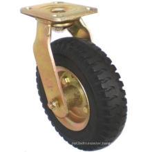 Heavy Duty Swivel Pneumatic Rubber Caster (Black)