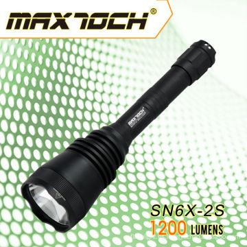 Maxtoch SN6X-2S Mejorado SN6X-2 Súper Larga Distancia Iluminación Recargable Antorcha de luz