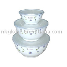 3 PCS Porcelain Enamel Storage Soup Bowl