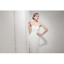 Sirena Sweetheart Corte tren vestido de novia de encaje AS30702