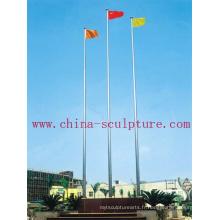 Tige de drapeau en acier inoxydable avec bannière