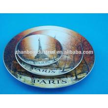 La decoración casera imprimió la placa de la porcelana, placa hermosa
