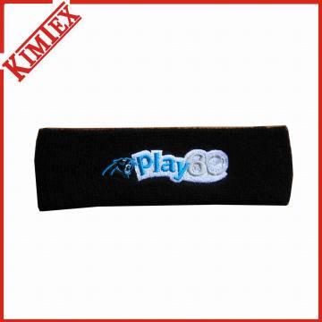 Qualitäts-Förderung-Baumwollstirnband mit Firmenzeichen-Stickerei