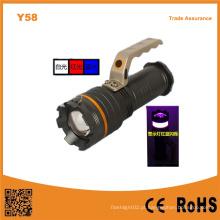 Y58 alumínio 10W alta potência Xml T6 LED extensível luz portátil