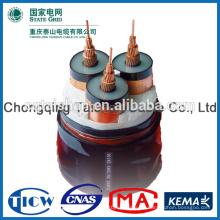 35kV XLPE aisló el cable resistente de los cables resistentes al fuego del cable de corriente de 3 * 300sqm m