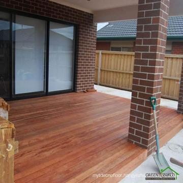 Golden distressed crack-resistant solid merbau garden decking