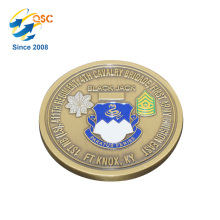 Wholesale 3D Antique Custom Flat Edge High Quality Brass Challenge Decorative Coins