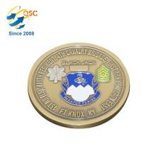 Atacado 3D antigo personalizado borda plana de alta qualidade latão desafio decorativo moedas