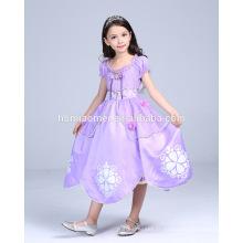 Belle robe de princesse sophia vente chaude parti porter cosplay princesse sofia robe