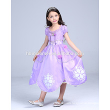 Beautiful sophia princess dress hot sell party wear cosplay princess sofia dress