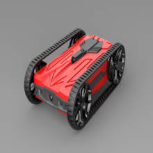 Red AR racing battle tank for kids