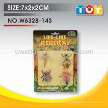 TPR animal de borracha quatro estilos inseto assorted conjunto para criança