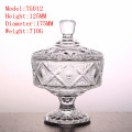 Transparent crystal glass candy jar glassware tank bottle