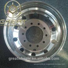 Rodas de alumínio polido de caminhão semi 22,5, 24,5, 17,5