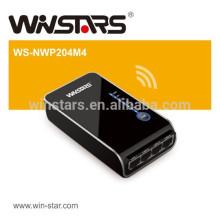 Mini 200Mbps Powerline Adapter ,4 Port Ethernet Starter Kit with HomePlug AV standard