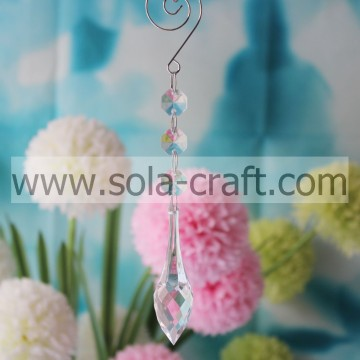 Sewing 19CM Clear Acrylic Crystal Cut Faceted Raindrop Event Beaded Garland Prism