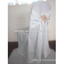 gros fauteuil jetable de mariage couvre et jupettes, CTV601, housses en gros avec soi attacher les ceintures arrière