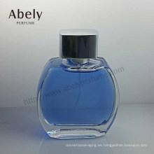 Botella de cristal redonda del diseño único para el perfume