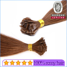 """18"""" Flat Tip Hair Extensions Best Human Hair Blonde Silk Straight Thick Hair End Top Pre-Bonded Hair Factory Wholesale Price"""