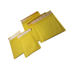 Bolsa acolchada kraft personalizada sobres marrón amarillo kraft burbuja anuncio publicitario