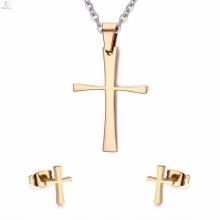 Or Celtic Crosses Vintage Stud boucles d'oreilles ensembles de bijoux