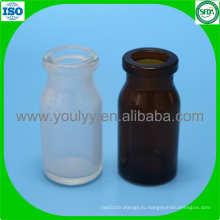 10 мл прозрачная и янтарная формованная бутылка