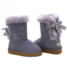 Best Quality for China Toddler Sheepskin Boots,Kids Winter Boots,Children Winter Boots Manufacturer Girl Winter Suede Leather Purple Boots Toddler export to Philippines Exporter