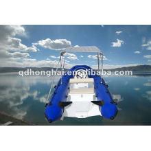barco de corrida de barco HH-RIB470A de fibra de vidro casco costela com CE