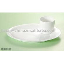 Juego de desayuno de porcelana de color blanco JX-BS603