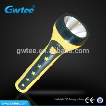 Plastic smart camping led rechargeable brightness torch