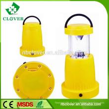Camping equipamentos portáteis acampamento luz mão usando 11 + 8 LED lanterna camping de pequeno porte