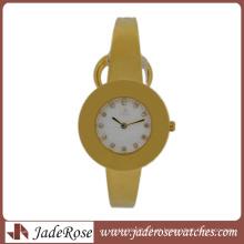 Ultra-Thin Watch Moda Contratado Quartz Watch. Todo o relógio pulseira de aço inoxidável das mulheres