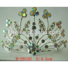 crystal crown headpiece hair tiara detachable crowns rhinestone tiara crown watch manufacturers with a crown logo