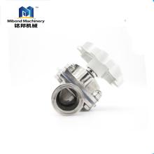 Válvula de diafragma de la válvula de control de PTFE de la fabricación de acero inoxidable sanitario del fabricante confiable de China