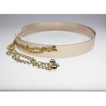 Мода женщин зеркало пояса золотой металлический пояс талии