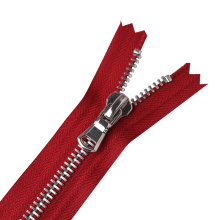 Jacket Red Zipper No.3 Metal Stainless Steel Slider