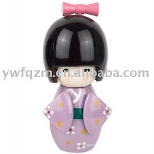 Nova moda artesanal kokeshi boneca do Japão