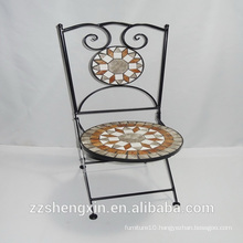 metal mosaic chair /mosaic garden chair