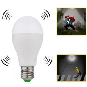 7W Cool White LED Bulb with Microwave Sensor