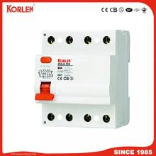 Korlen Patented Residual Current Circuit Breaker RCCB Knl5-100 30, 100, 300, 500mA with IEC61008-1