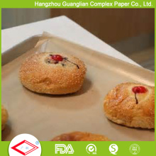 Unbleached Brown Color Coated 300X400mm Papel De Cozimento Muffin Biscuit Papel De Cozinha