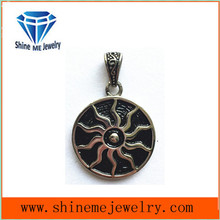 Fashion Custom Stainless Steel Jewelry Glue Charm Pendant