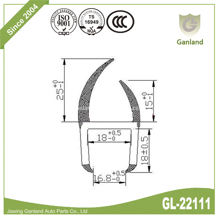 PVC H Shape Seal gl-22111
