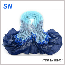 Wholesale 2015 Fashion Custom Acrylic Voile Long Scarf