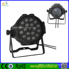 18pcs 10w 4in1 rgbw dmx led par64 dj uplight led spot light with ZOOM